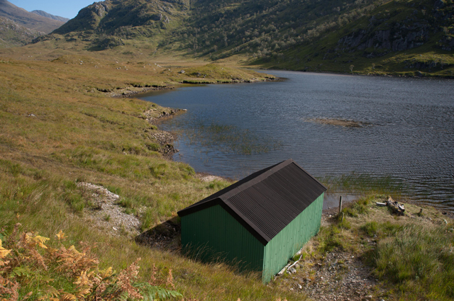 Boat House on the upper Dubh Lochain