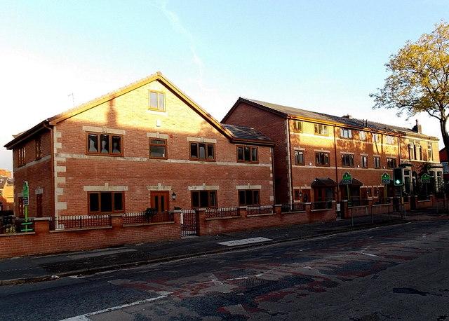 Recently-built houses in Heywood Street, Bury