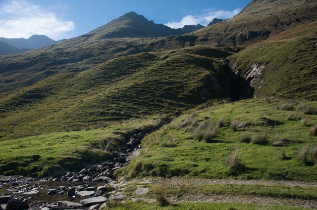 Track and hillside in Gleann Lichd