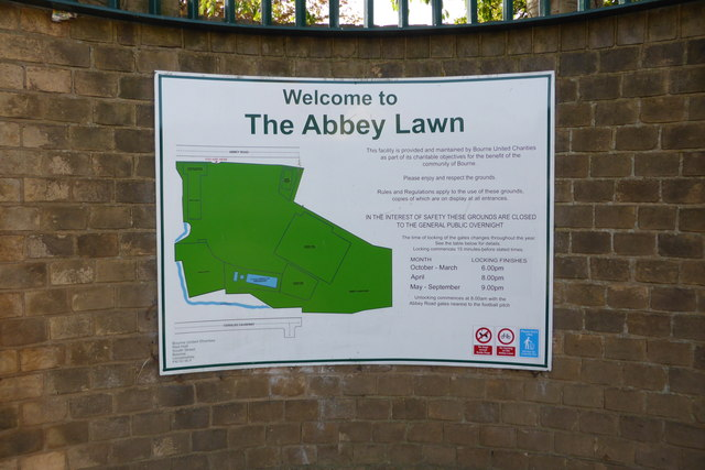 Map of the Abbey Lawns