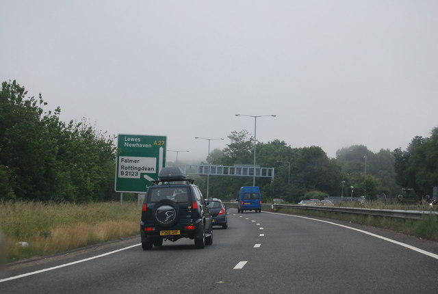 Nearing the end of the Brighton bypass
