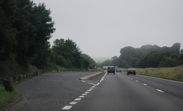 Layby, A27