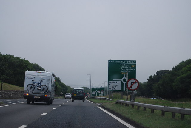 A27 west of Ashcombe Roundabout