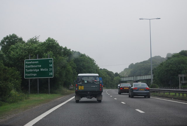 A27, east of Ashcombe Roundabout