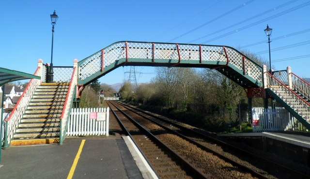 Railway station footbridge, Llanfairpwll