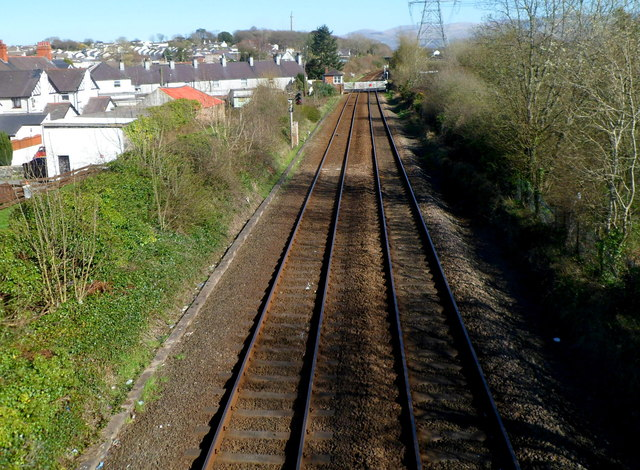 From footbridge to level crossing, Llanfairpwll