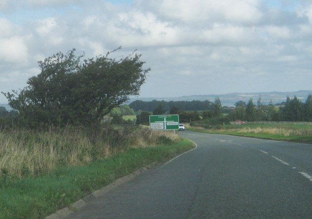 The A68 northbound approaching junctions for Stanhope and Lanchester