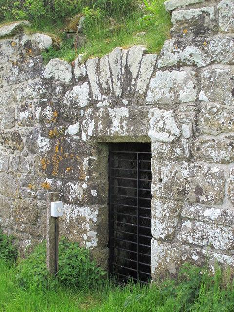 High Shaw bastle - entrance