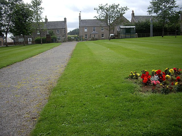 Path from the War Memorial, to the A97 through Rhynie