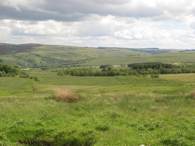 Moorland west of Ironhouse and High Shaw bastles