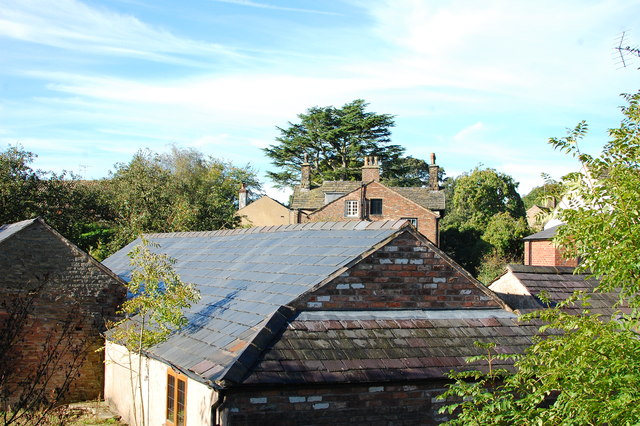 Roofs and cottages, Sutton Lane Ends