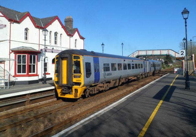 Shrewsbury train at Llanfairpwll