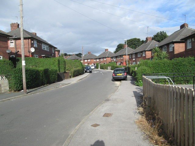 St Wilfrid's Crescent - viewed from Easterly View
