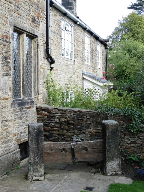 The village stocks at Fulwood Old Chapel