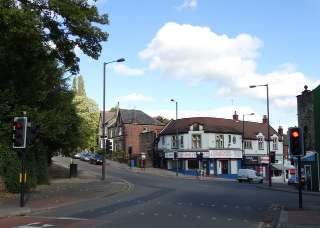 Road junction at Nether Green, Sheffield