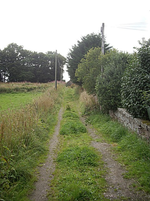 A back lane in Rhynie