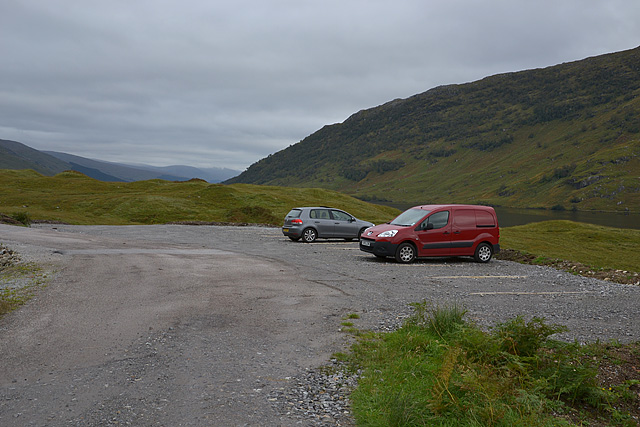 Car park at the road end