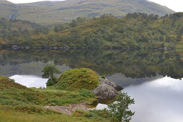 Rocky promontory by Loch Arkaig