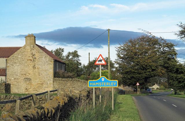 Minor road entering Hamsterley