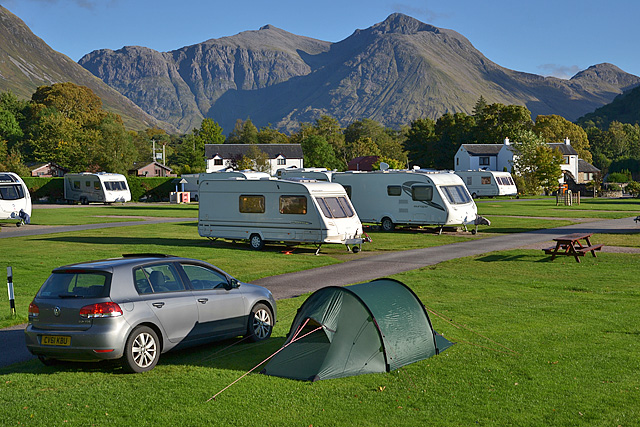 A fine evening at Invercoe campsite