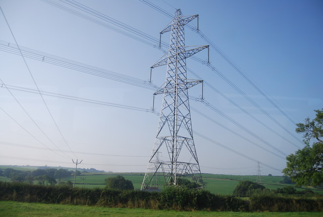 Pylon by the railway line