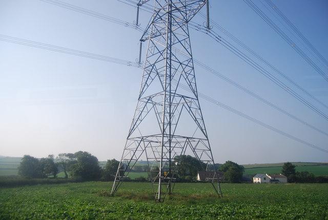 Pylon by the railway line
