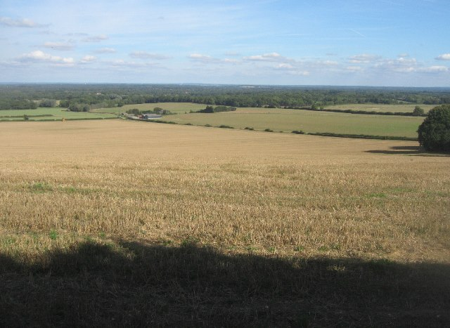 Looking north - North Hampshire Downs