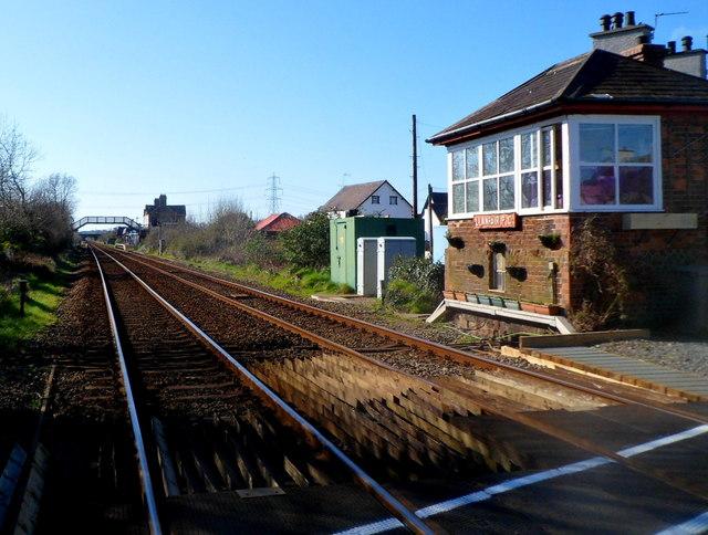 From level crossing to station footbridge, Llanfairpwll