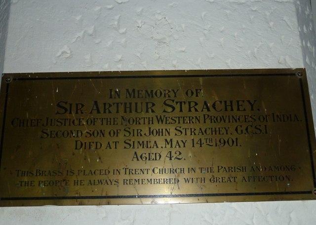 St Andrew, Trent: memorial (12)