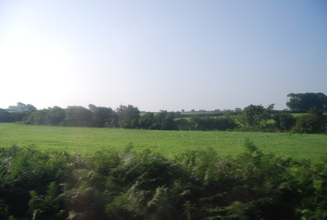 Field by the railway line