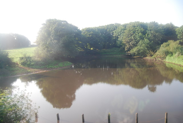 Lake by the railway line