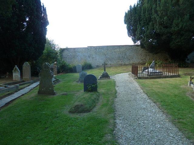 St Andrew, Trent: churchyard (ii)