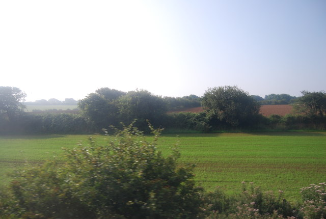 Farmland by the railway