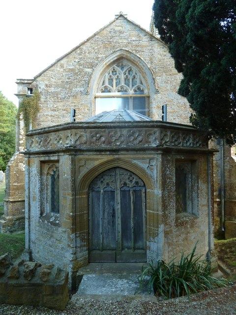 St Andrew, Trent: west door
