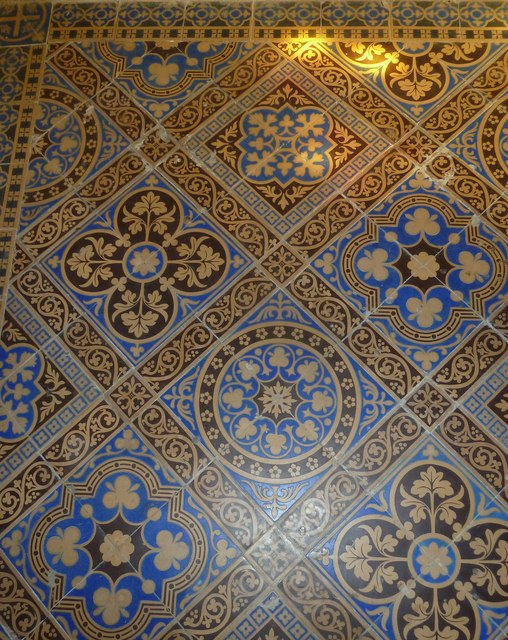 St Andrew, Trent: tiles (A)