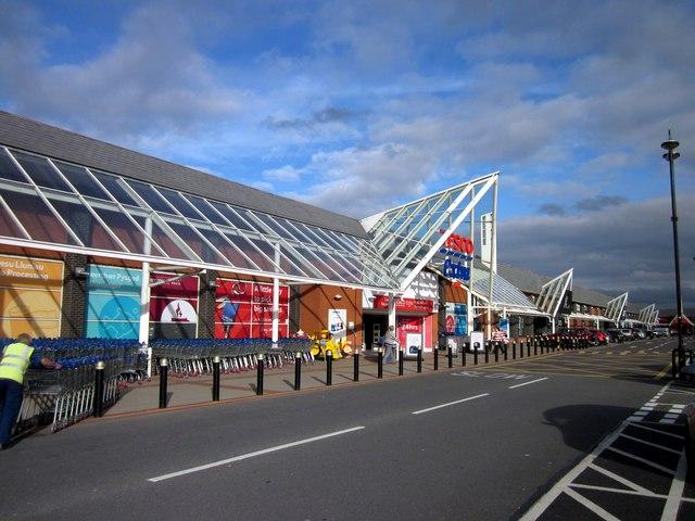 Tesco Extra at Broughton Shopping Park, Flintshire