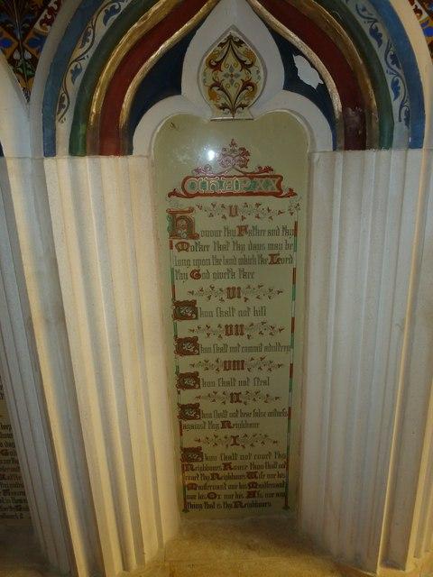 St Andrew, Trent: The Ten Commandments (v to x)