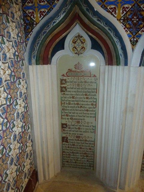 St Andrew, Trent: The Ten Commandments (i to iv)