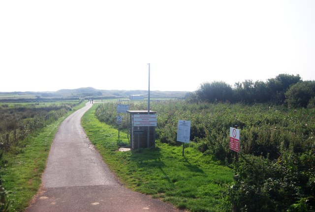 Footpath into Penally Range