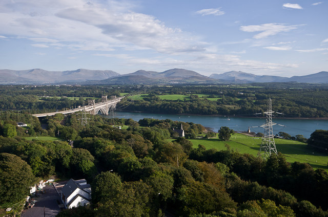Pont Britannia and the Menai Strait
