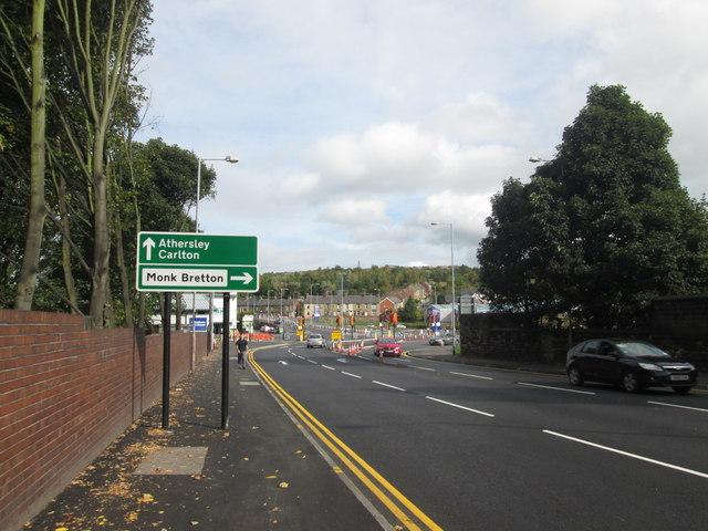 Big changes underway at the Wakefield Road/Burton Road junction