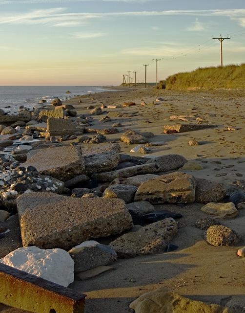 Rubble on Spurn beach