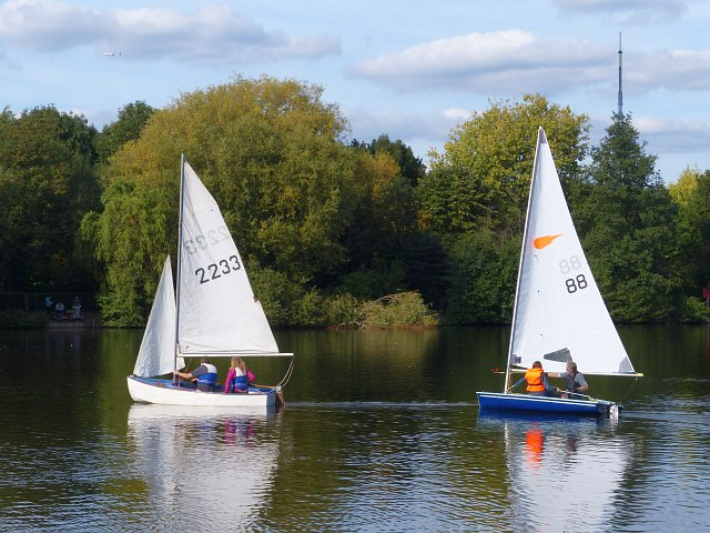Sailing on South Norwood Lake