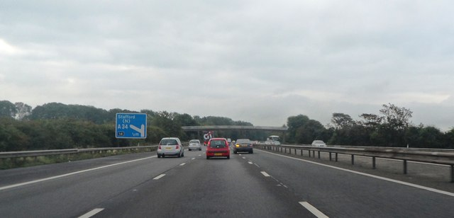 M6 approaching Junction 14
