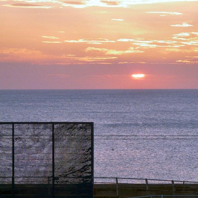 Sunset behind Water Wings