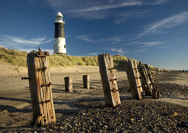Spurn beach and lighthouse