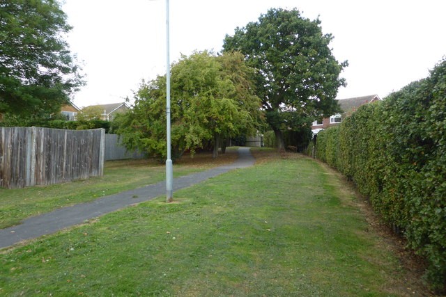 Footpath behind the houses - looking north