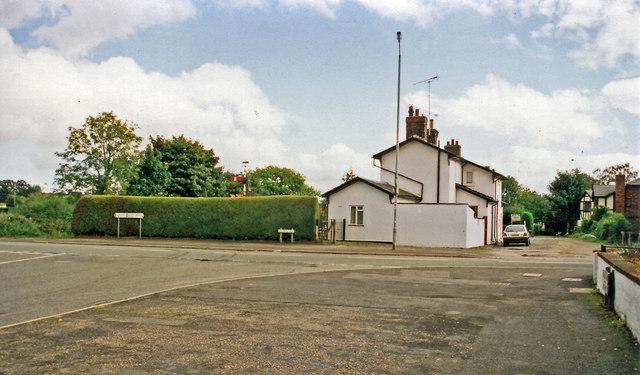 Former Hope & Pen-y-Ffordd station, 1999