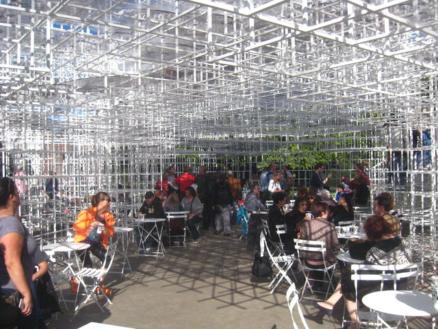 The interior of the Serpentine Gallery Pavilion 2013