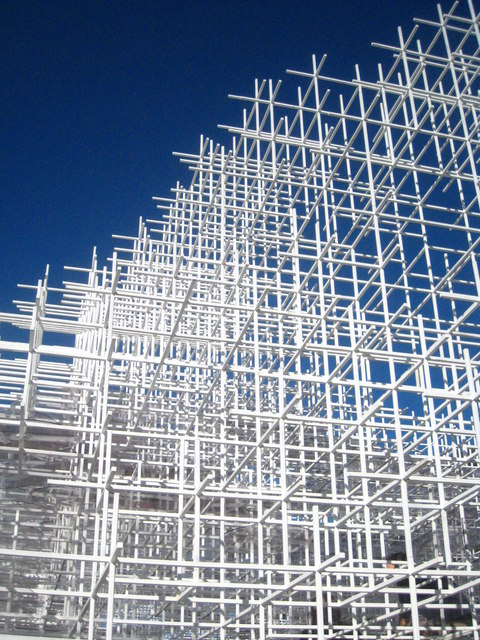Detail of the framework of the Serpentine Gallery Pavilion 2013